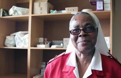 Sister Concetta is excited about increased capacity at St. Theresa's Clinic in Swaziland because of a recent donation of medical equipment. HEATHER MASON